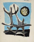 "Jaume Sans, ""Untitled"" gouache on cardboard 46,5 x 38,5 cm"