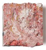 "Teo Soriano, ""Sin título (Jardín)"", 2012-2013 oil on canvas 20 x 20 x 3,5 cm."