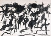"Esteban Vicente, ""Untitled"", 1967 ink on paper 48,5 x 70 cm"