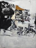 """Rafael Canogar, """"Pisas el umbral de la muerte"""", 1963 óleo sobre tela 200 x 150 cm"""
