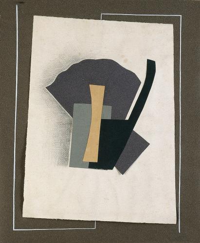 """Léon Tutundjian, """"Sans titre"""", 1925-1926 tinta y collage sobre papel 38,5 x 32 cm"""