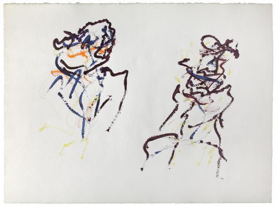 """Henri Michaux, """"Sans titre"""", 1967 acrílic sobre paper 56 x 75,5 cm"""