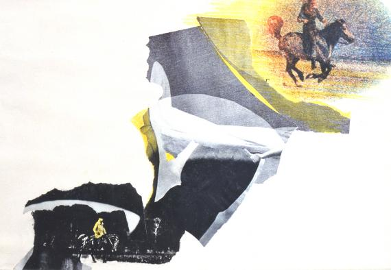 "Joan Rabascall, ""Western"", 1965 collage sobre paper 50 x 65 cm"