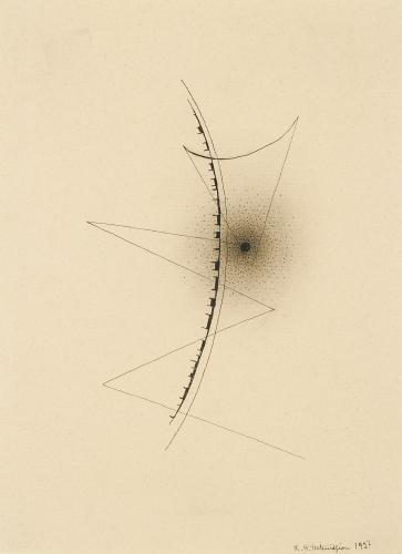 "Léon Tutundjian, ""Sans titre"", 1927 ink on paper 21,8 x 16 cm"