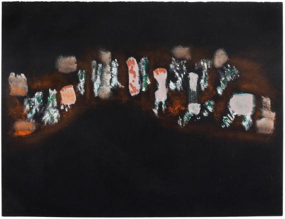 "Henri Michaux, ""Sans titre"", 1937 guaix i pastel sobre paper 25 x 32,5 cm"
