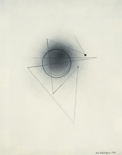 "Léon Tutundjian, ""Sans titre"", 1927 ink on paper 21 x 16 cm"