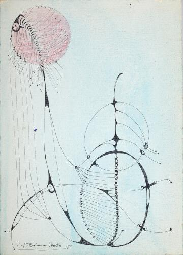"Magda Bolumar, ""Untitled"", 1965 ink on cardboard 32 x 25 cm"