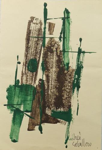 José Caballero, 'Sin título' gouache sobre cartulina 27,5 x 18,7 cm