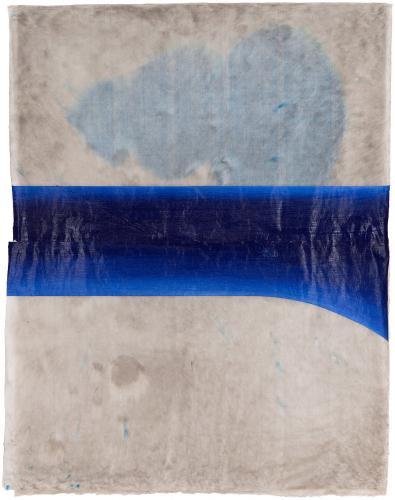 "LLuís LLeó, ""Eugenia"", 2015, oil, graphite and ink on Bhutan Denar JDK paper 103 x 79,5 cm"