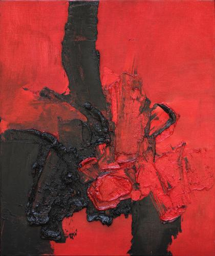 Luis Feito, '366' 1962 oil on canvas 73 x 60 cm