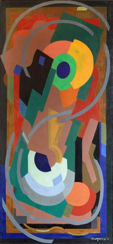 "Albert Gleizes ""Spirale brun et vert"", 1932-33 oil on canvas 168,2 x 77,7 cm"