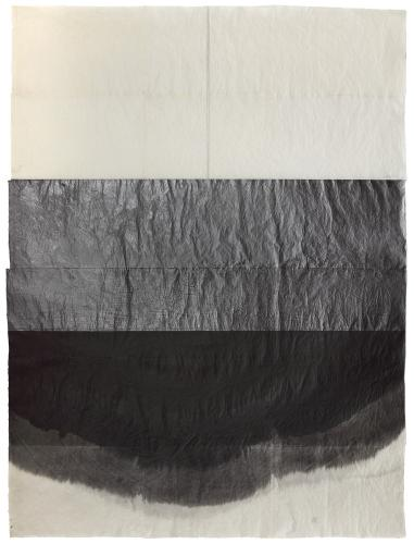 "Lluís Lleó, ""Gran vitrea"", 2016, graphite and ink on Nepal J.M.3 paper, 305 x 232 cm"