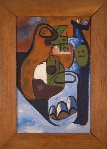 "Le Corbusier ""Nature morte"", 1944 oil on wood 35 x 22,5 cm © FLC/ADAGP Paris, 2017"