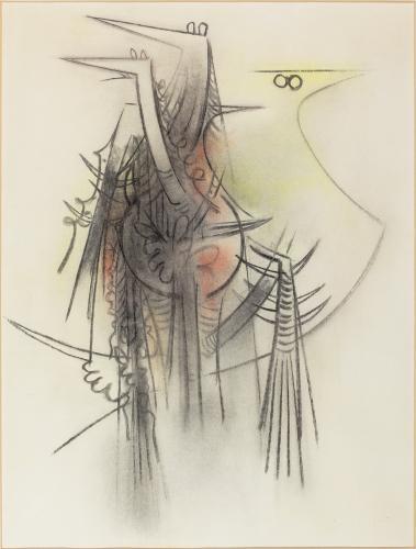 "Wifredo Lam ""Sin título"" 1969 pastel on paper 65 x 50 cm"