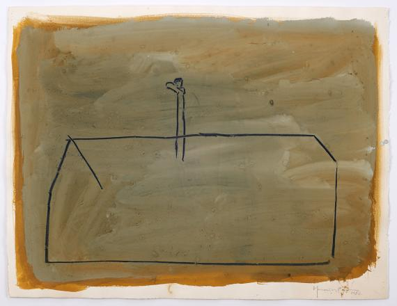 "H.Pijuan, ""Sense títol 29"", 1987 gouache and pencil on Arches paper 50 x 65,5 cm"