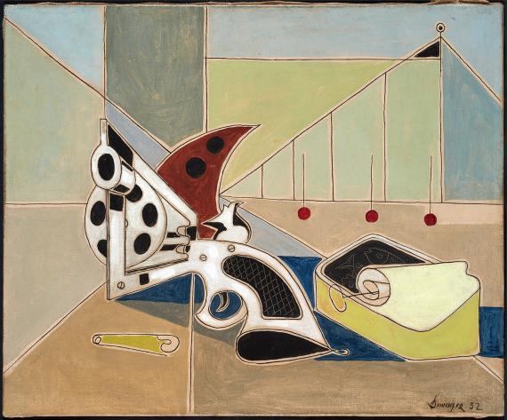 """Óscar Domínguez, """"Le revolver"""", 1952 oil on canvas 38 x 46,5 cm"""