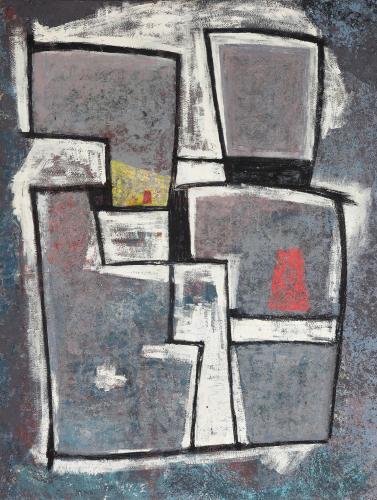 """Jaume Sans, """"Sin título'"""", c.1955 óleo sobre tela 143 x 108,5 cm"""
