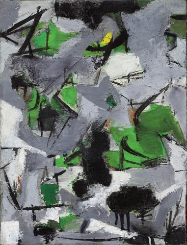 Esteban Vicente, 'Sin título', 1951 óleo sobre tela 42 x 31 cm