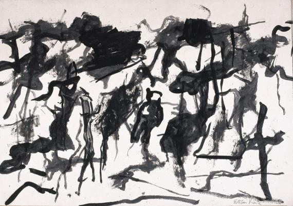 Esteban Vicente, 'Untitled' 1967 ink on paper 48,5 x 70 cm