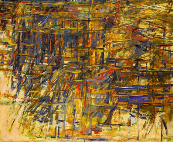 "M. H. Vieira da Silva, ""Automne"", 1961 oil on canvas 81,3 x 100 cm"