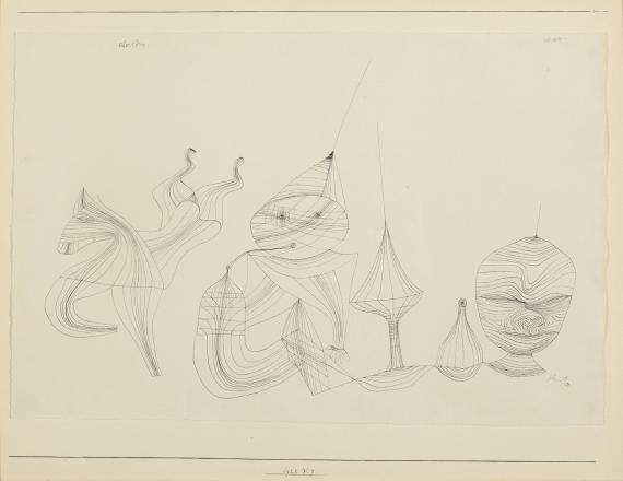 """Paul Klee, """"Obertöne"""", 1928, ink on paper, 45,1 x 58,7 cm"""