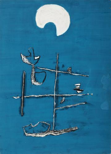 """Jaume Sans, """"Sin título'"""", 1932-1935 gouache sobre papel 32,5 x 22,5 cm"""