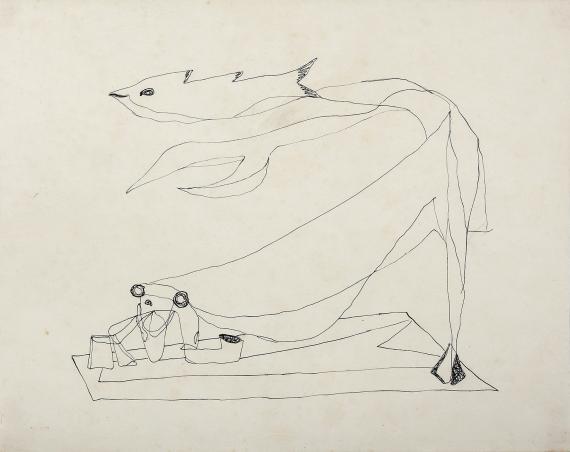 """Jaume Sans, """"Sin título'"""", 1932-1935 tinta sobre papel 21,5 x 27,2 cm"""