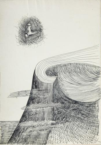 "Jaume Sans, ""Untitled"", 1932-1935 ink on paper 31,2 x 22 cm"