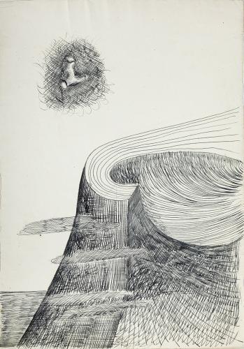 """Jaume Sans, """"Sin título'"""", 1932-1935 tinta sobre papel 31,2 x 22 cm"""